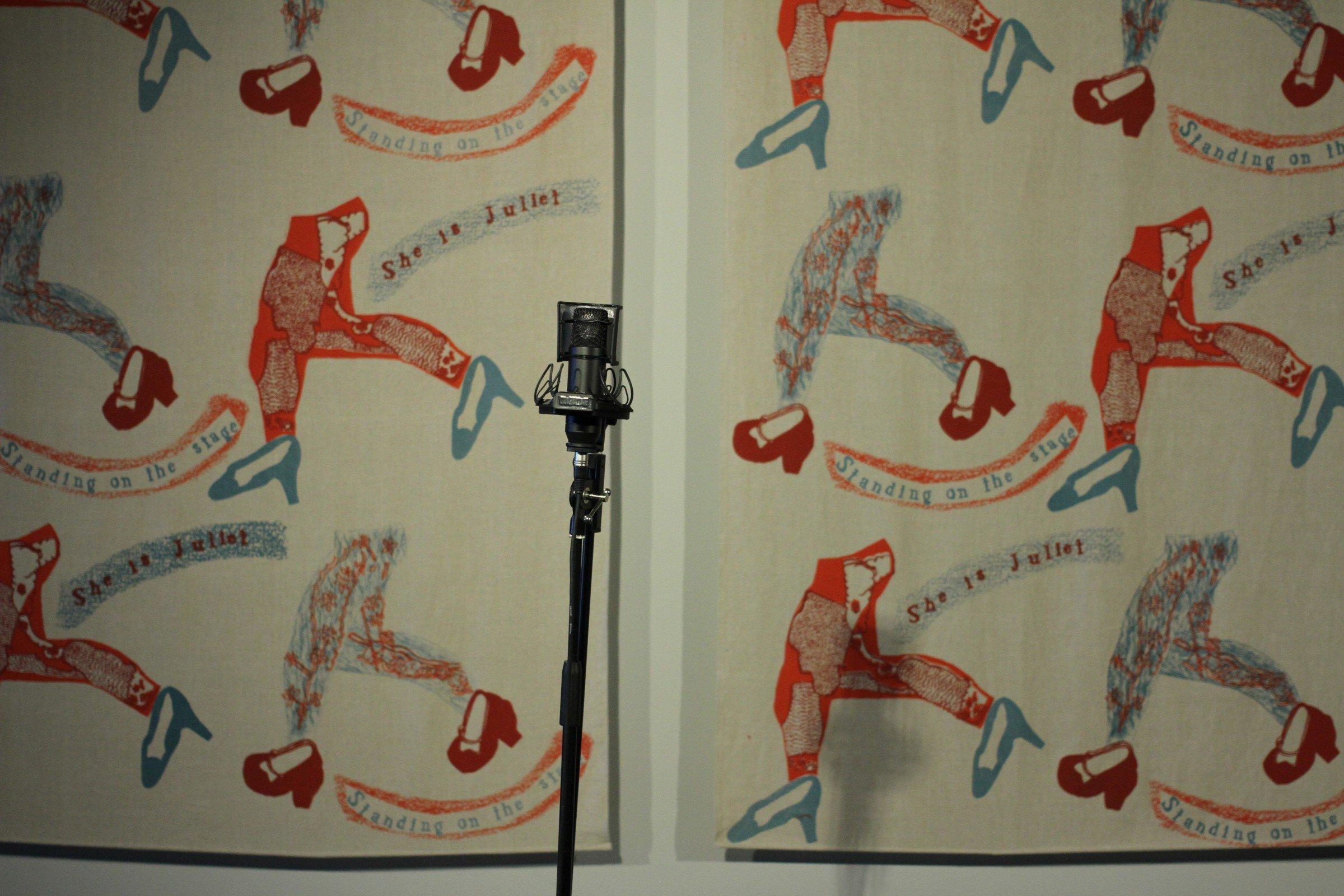 Ntiense Eno Amooquaye, textiles, installation view