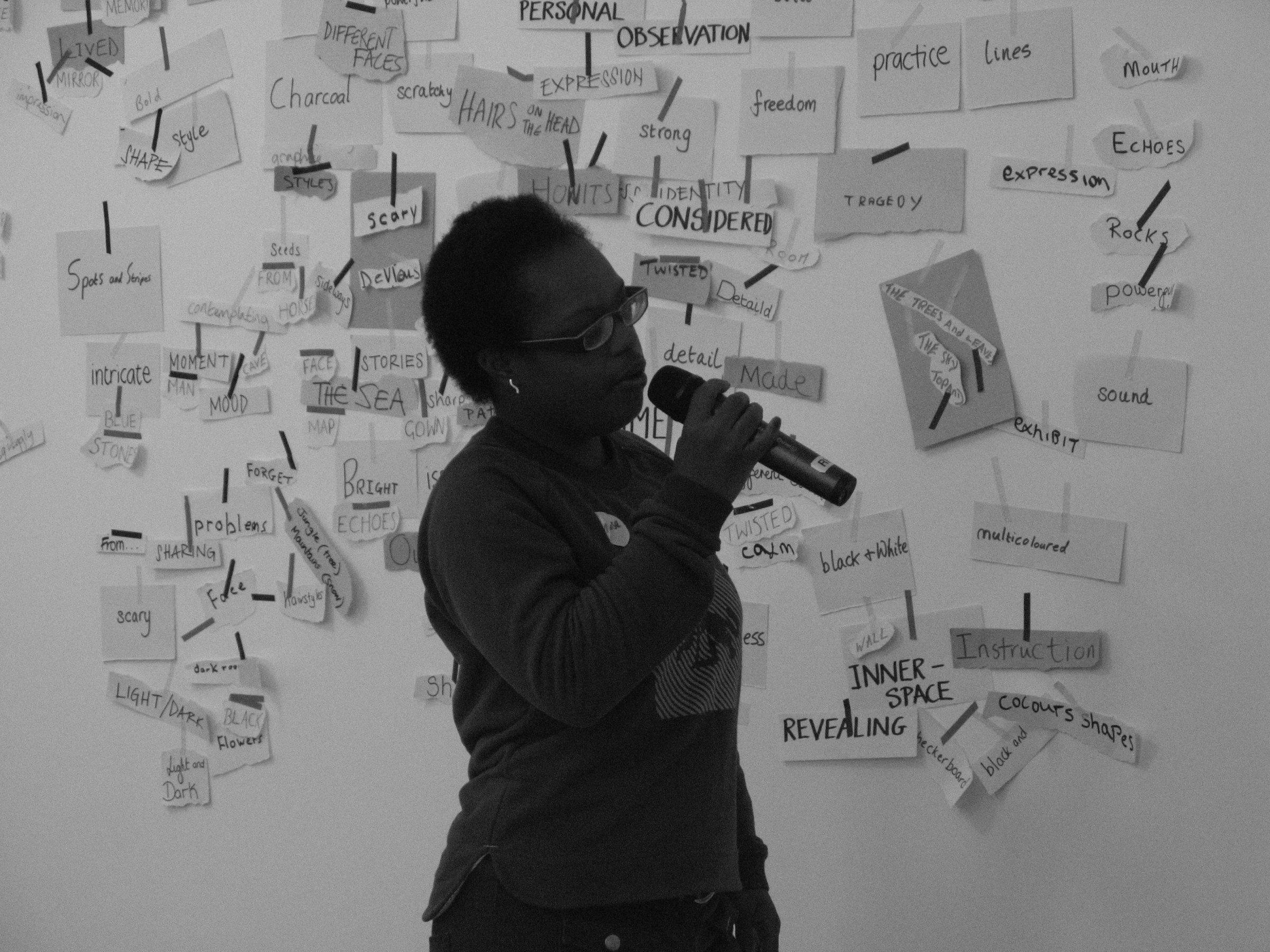 Ntiense Eno Amooquaye, See Revolutionary Art Exhibit performance